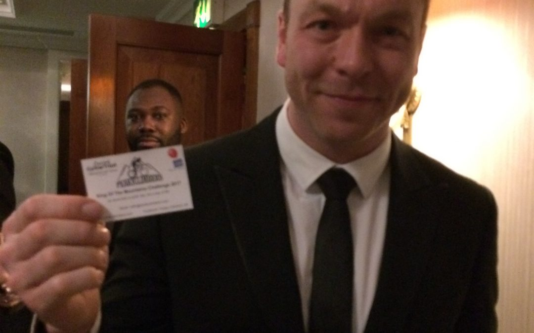 Sir Chris Hoy MBE lends his support to the Peaky Climbers